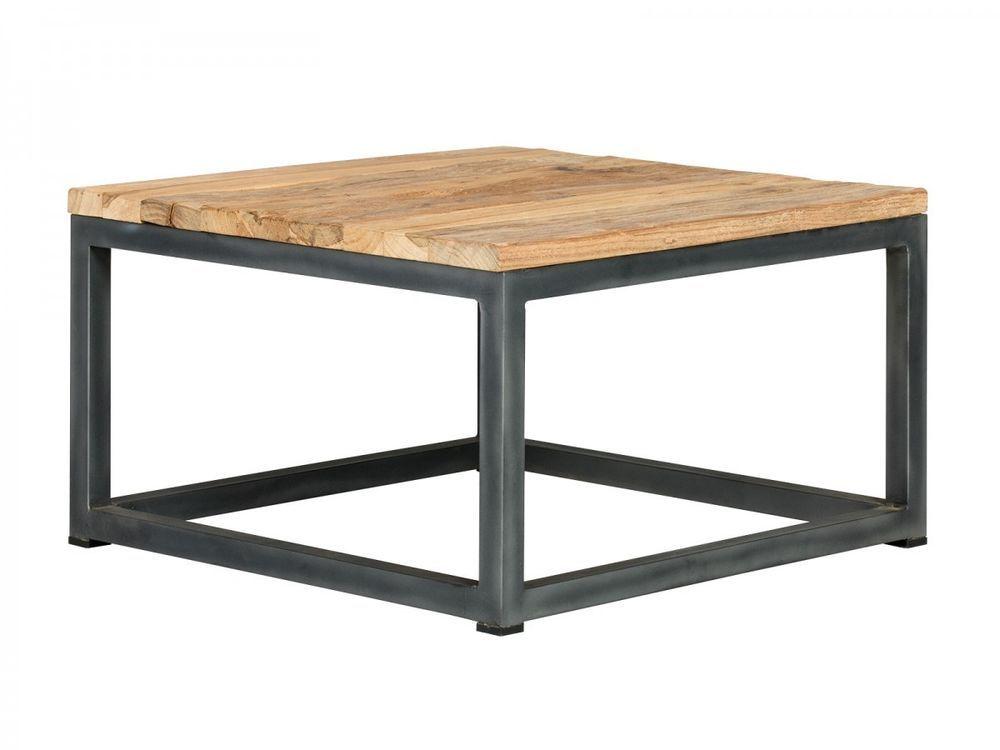 Couchtisch 60x60 Rustikal Tisch Metall Eisen Mobel Teak