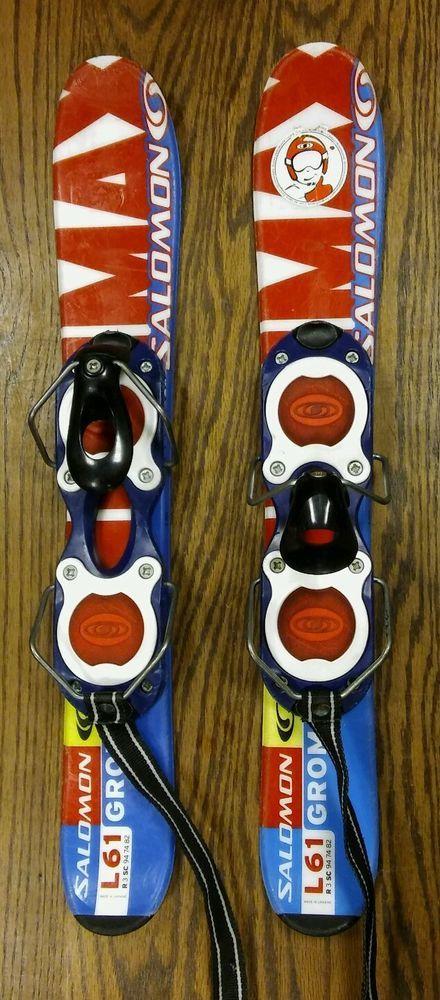 b9ff668978b6 Salomon Ski Blades L61 Grom 24in Junior Kids Binders  salomon ...