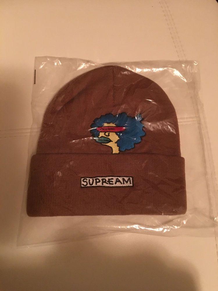 c1c1004a9b7 2017 F W Supreme GONZ Ramm Beanie Rust Big Logo Hat One Size Brooklyn Box  Logo  fashion  clothing  shoes  accessories  mensaccessories  hats (ebay  link)