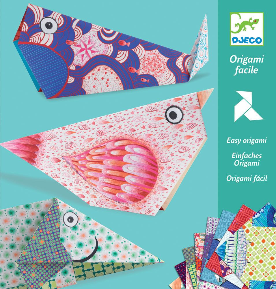Djeco paper easy animal origami fun paper modelling construction djeco paper easy animal origami fun paper modelling construction kit for children to make 16 jeuxipadfo Image collections