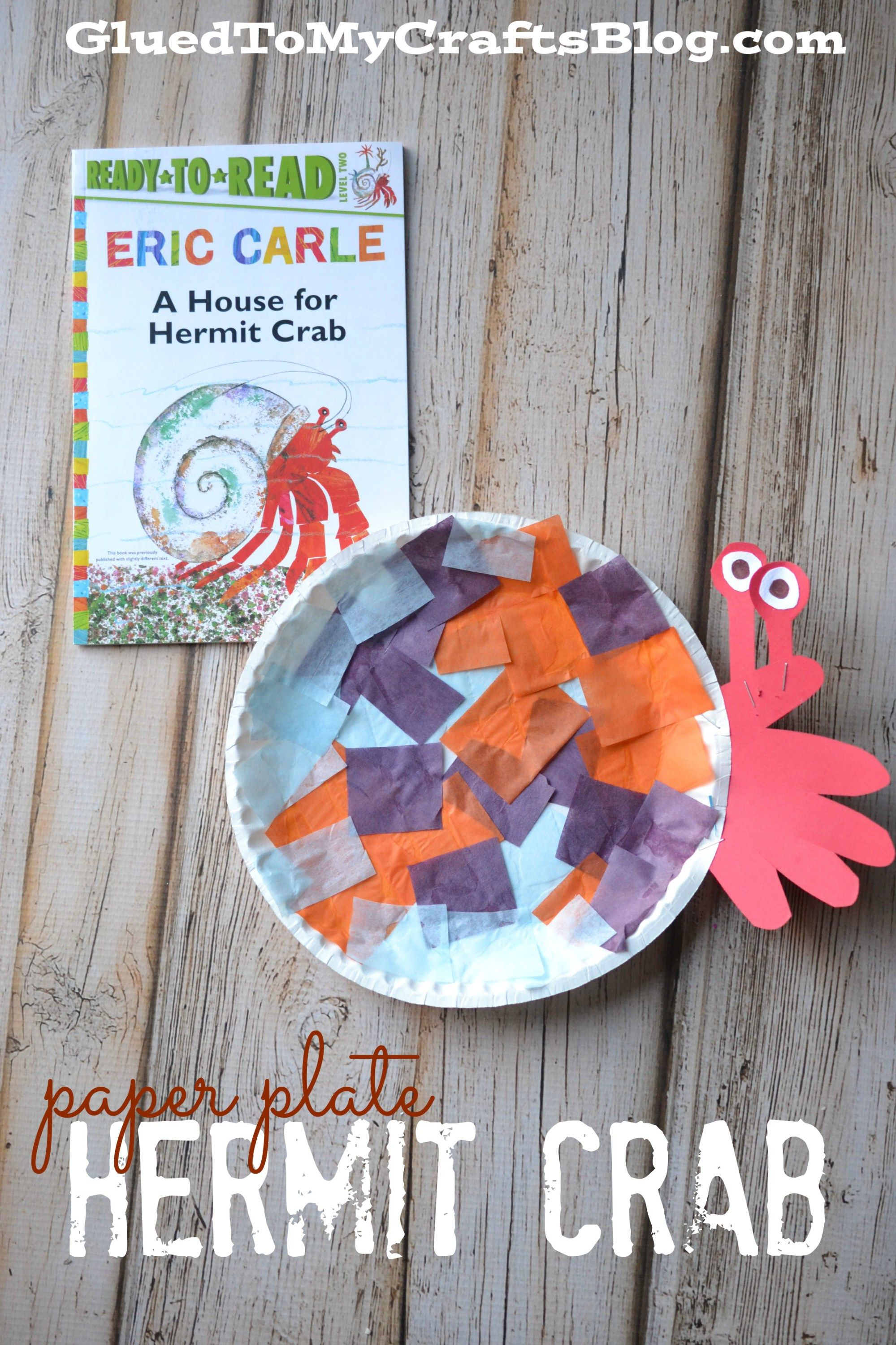 Paper Plate Hermit Crab Kid Craft