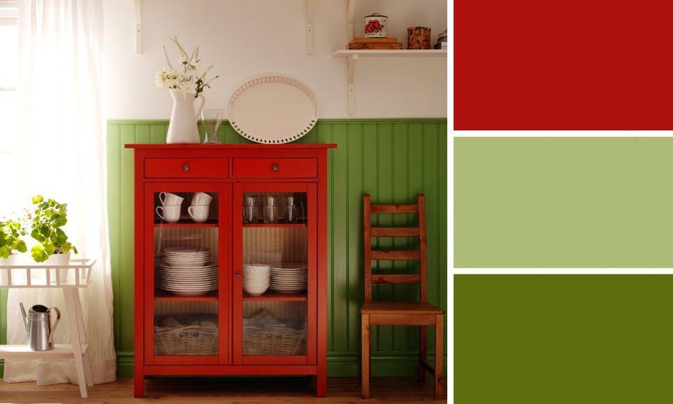 Quelles couleurs se marient avec le rouge ? | Ikea, Vert et Rouge