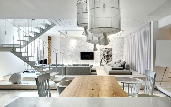 Trendy Duplex Apartment By Form Bureau  Bureaus Flats And Interiors