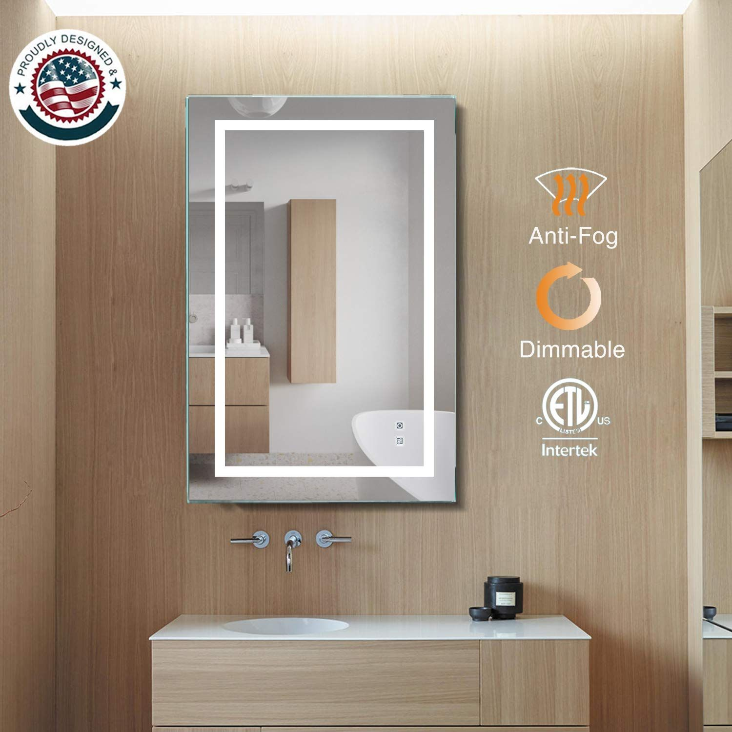 Exbrite Led Bathroom Mirror For More Information Visit Image Link It Is An Affiliate Link To In 2020 Bathroom Mirror Bathroom Mirror Frame Large Bathroom Mirrors