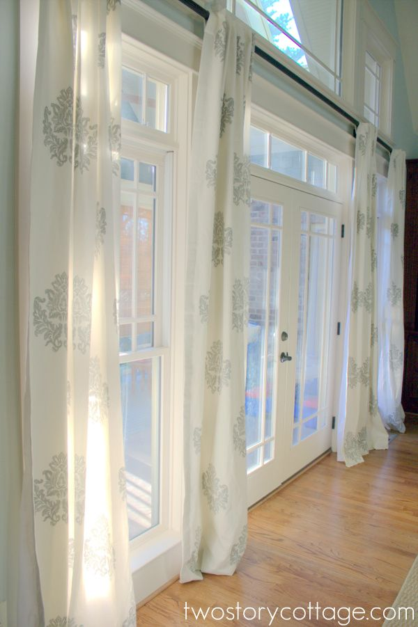 Bingham Printed Damask Panels By Ballard Designs I Via Erin Two Story Cottage