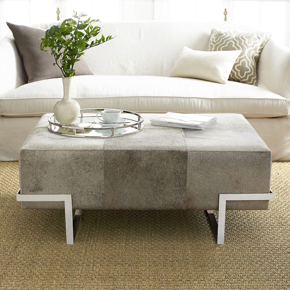 HairOnHide Ottoman NEW Living room table, Living