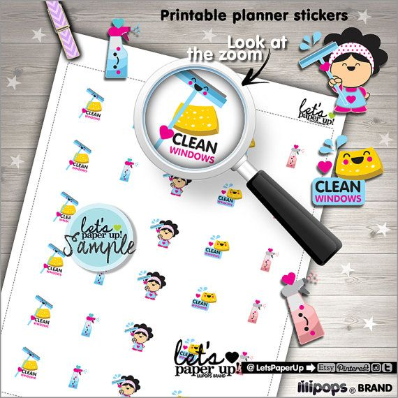 picture about Printable Window Sticker called New Home windows Stickers, Printable Planner Stickers, Fresh Up