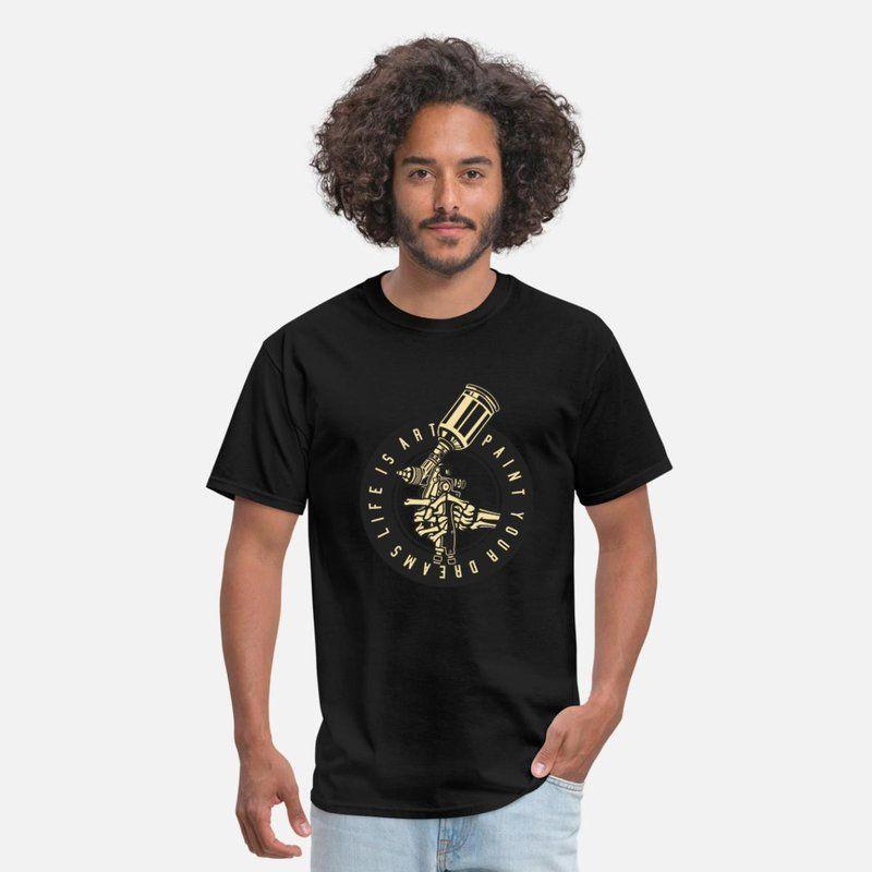 aaec7caaa21c Paint Your Dreams Men s T-Shirt - black