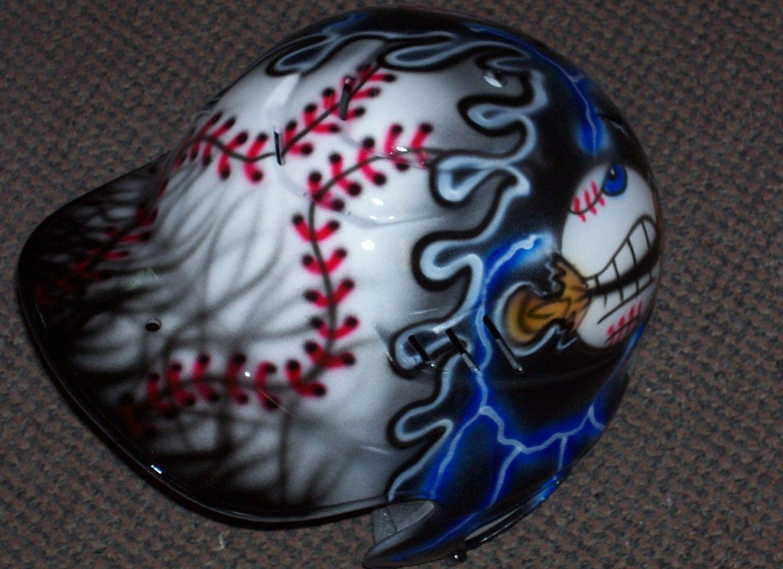 Airbrushed Batting Helmet Baseball Softball new