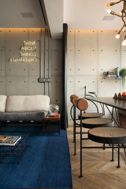 rua 141 rafael zalc renovates apartment rz in s o paulo. Black Bedroom Furniture Sets. Home Design Ideas