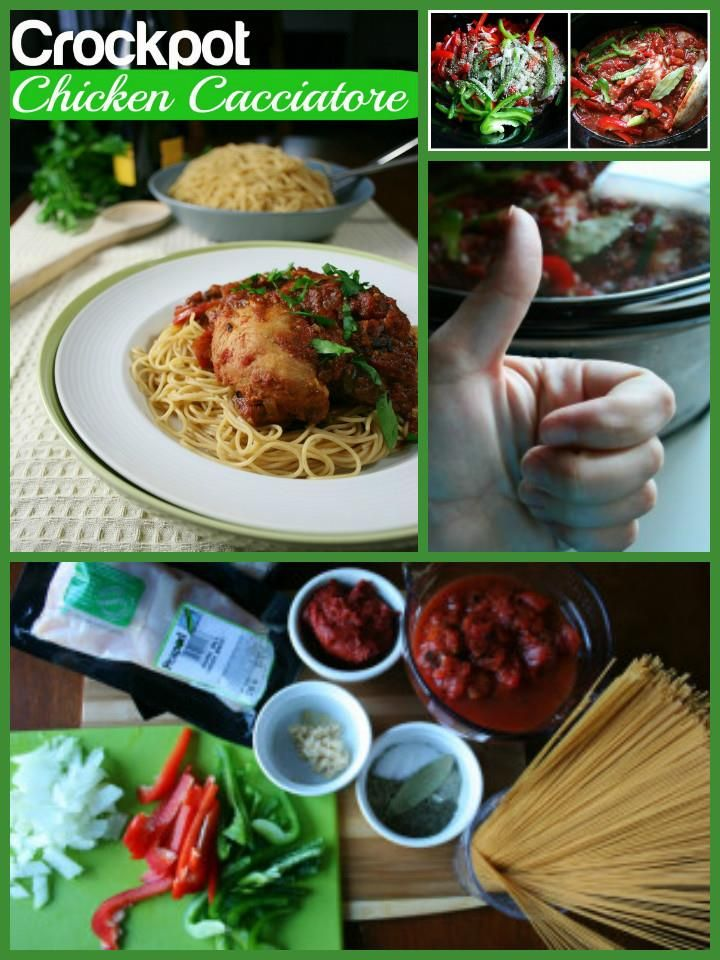 Quick and Yummy Crockpot Chicken Cacciatore - 100 Easy Slow Cooker Recipes – Crock Pot Recipes for Busy Timing