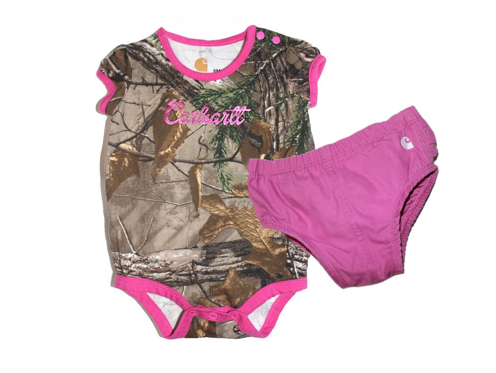 2d20a352e CARHARTT Baby Girl Realtree Xtra Pink Camo Bodysuit Bloomers 2 Piece Set 6  M #Carhartt #Bodysuit #EverydayHoliday