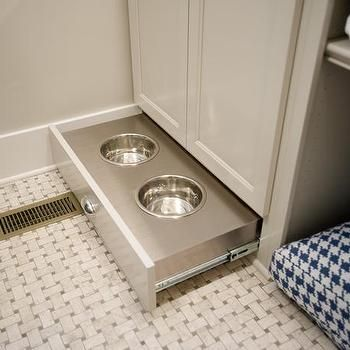Hidden Dog Food Bowls Dog Houses In 2019 Laundry Room