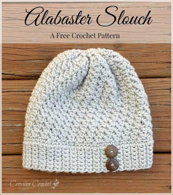 Alabaster Slouch | Christmas | Pinterest | Croché, Ganchillo y Tejidos