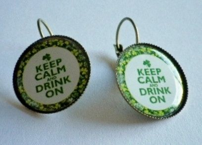 Irish St Patricks Day Inspired Image on Antique by SweetieBeads, $5.00