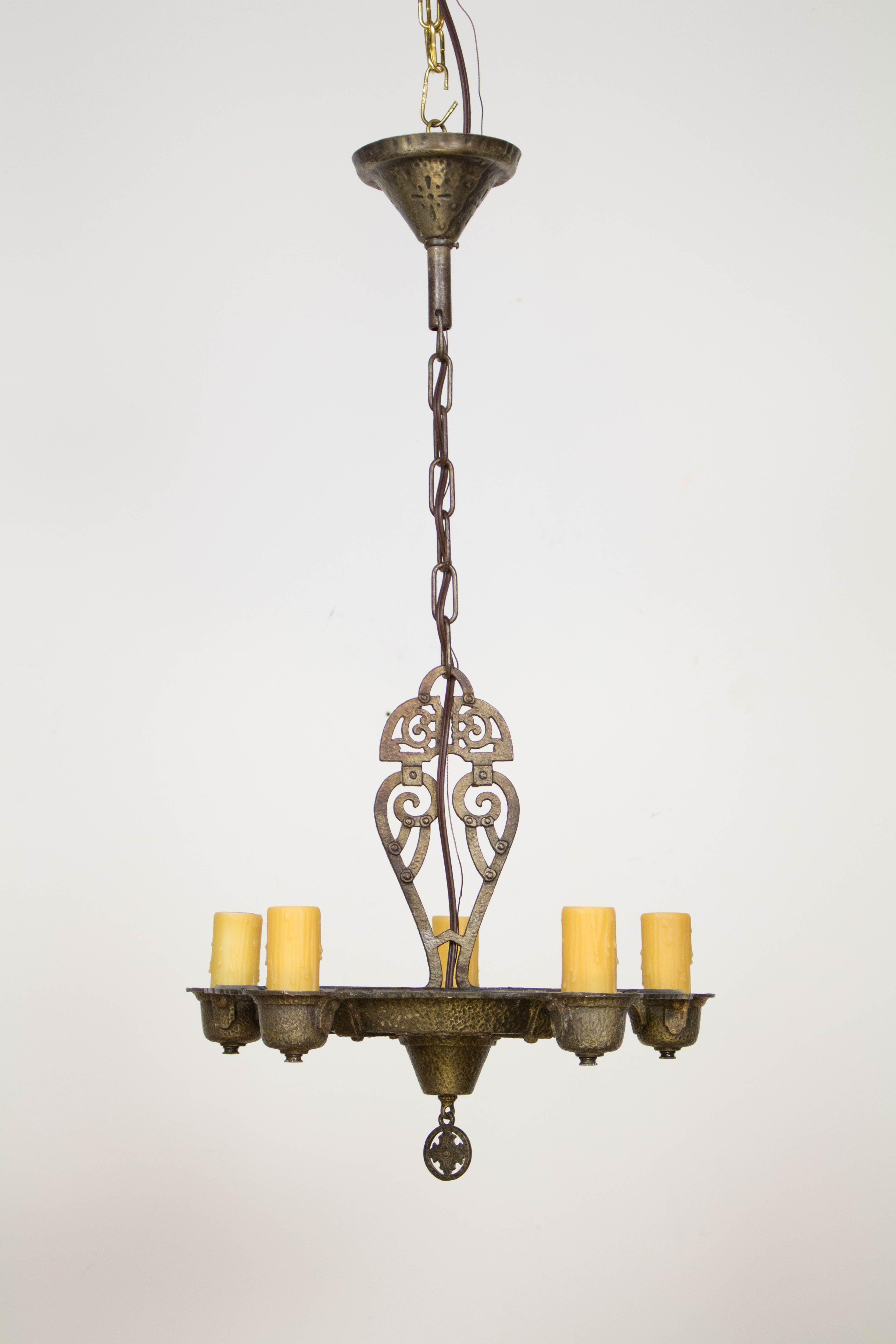 Five light tudor chandelier american c 1930 chandeliers pinterest five light tudor chandelier american c 1930 aloadofball Choice Image