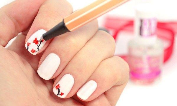 Cherry blossom nails blackwater | Cherry blossom nail spa | Cherry blossom nail art | Cherry blossom nail design