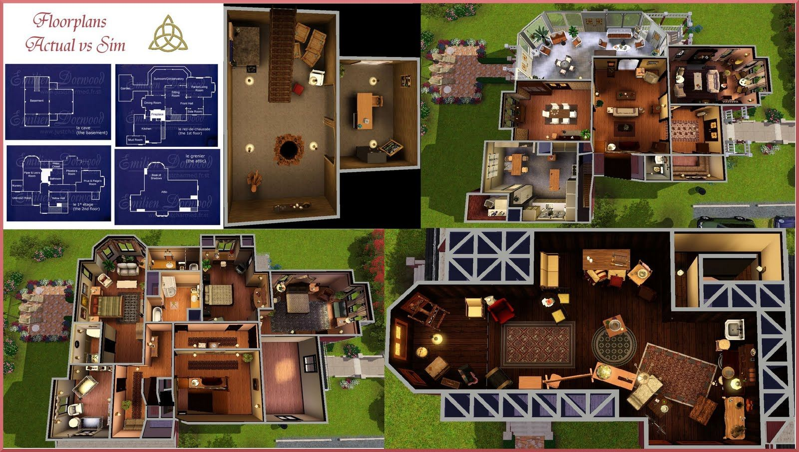 halliwell manor house layouts sims building sims house