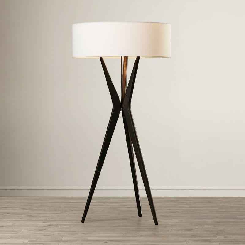 Jessamine 60 5 Tripod Floor Lamp Floor Lamp Tripod Floor Lamps Modern Floor Lamps