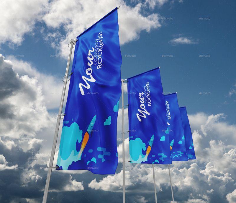 Flags mockup free