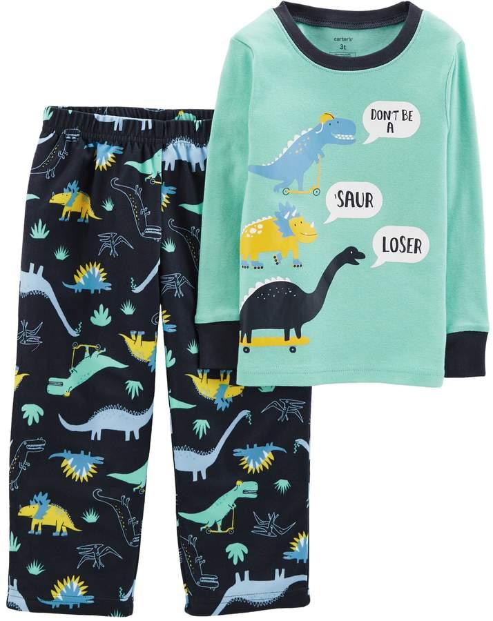 New Carter/'s Boys Woodland Creatures Pajama set Snug Fit Toddler Teal