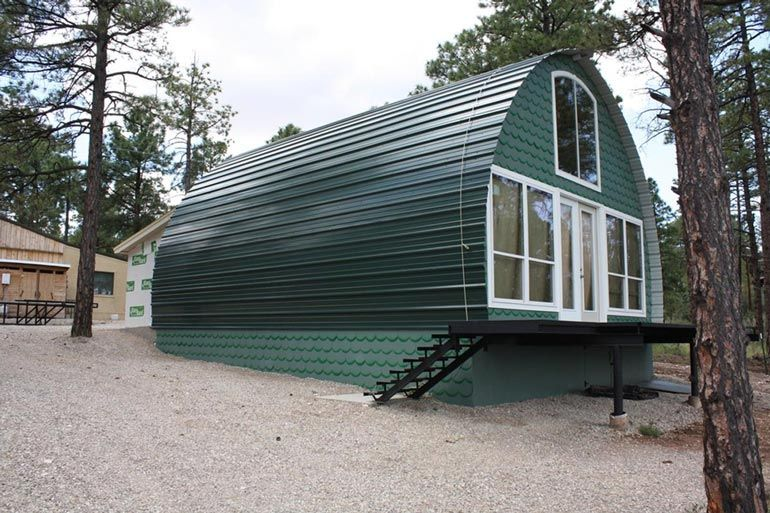 metal cabins homes