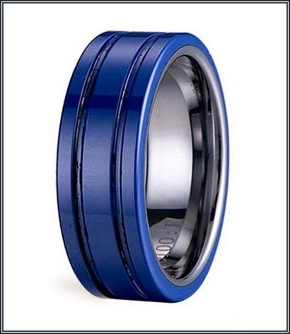 Black And Blue Mens Wedding Bands His Wedding Band Idea