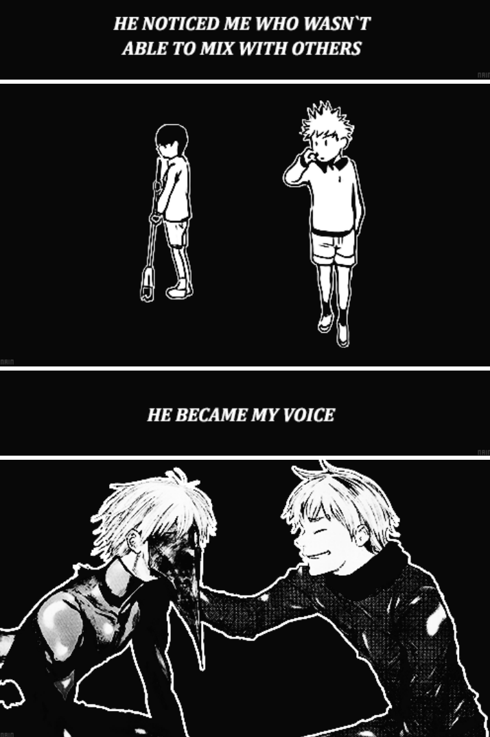 """...all this time... you`ve had to suffer like this..."" Hide and Kaneki- Tokyo Ghoul"