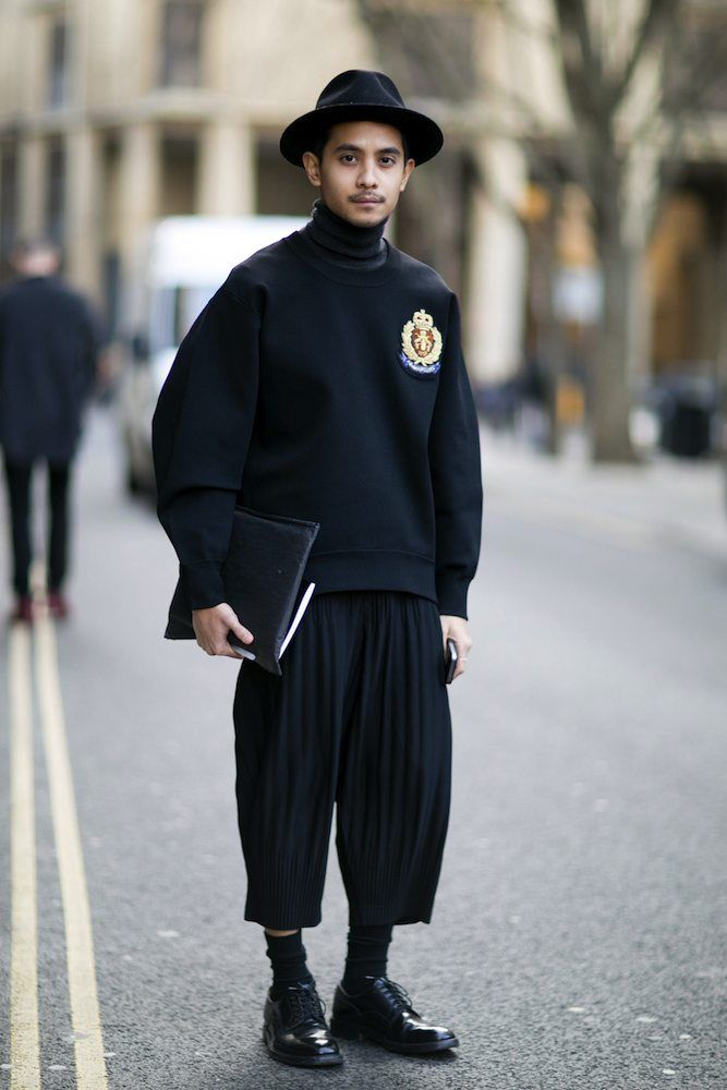 London Collections: Men Fall 2015 Street Style - theFashionSpot