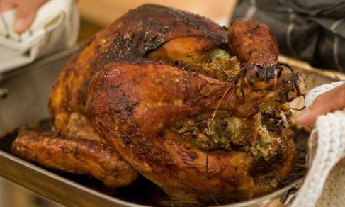 Asian Roast Turkey With Sticky Rice Stuffing Recipe Thanksgiving