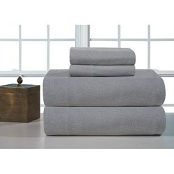 @Overstock.com - Heather Grey Heavyweight Flannel Sheet Set - Add an extra touch of warmth and comfort to your bedroom with this heavyweight flannel sheet set. These sheets have been brushed on both sides for comfort and softness.  Perfect for use on colder nights.  http://www.overstock.com/Bedding-Bath/Heather-Grey-Heavyweight-Flannel-Sheet-Set/6220247/product.html?CID=214117 $33.29