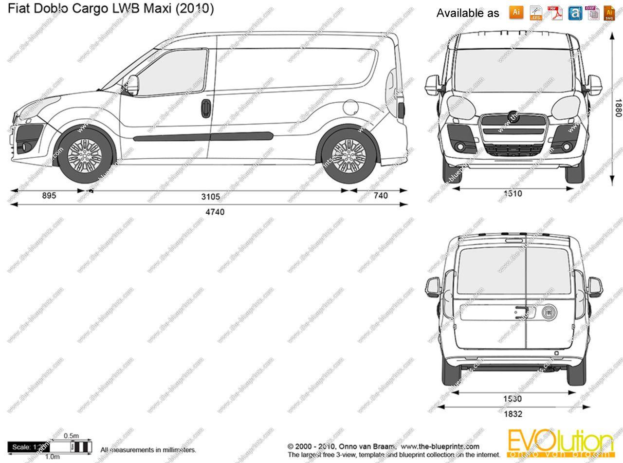Fiat Doblo Cargo Disegno Misure   Cerca Con Google. Fiat DobloWrapping