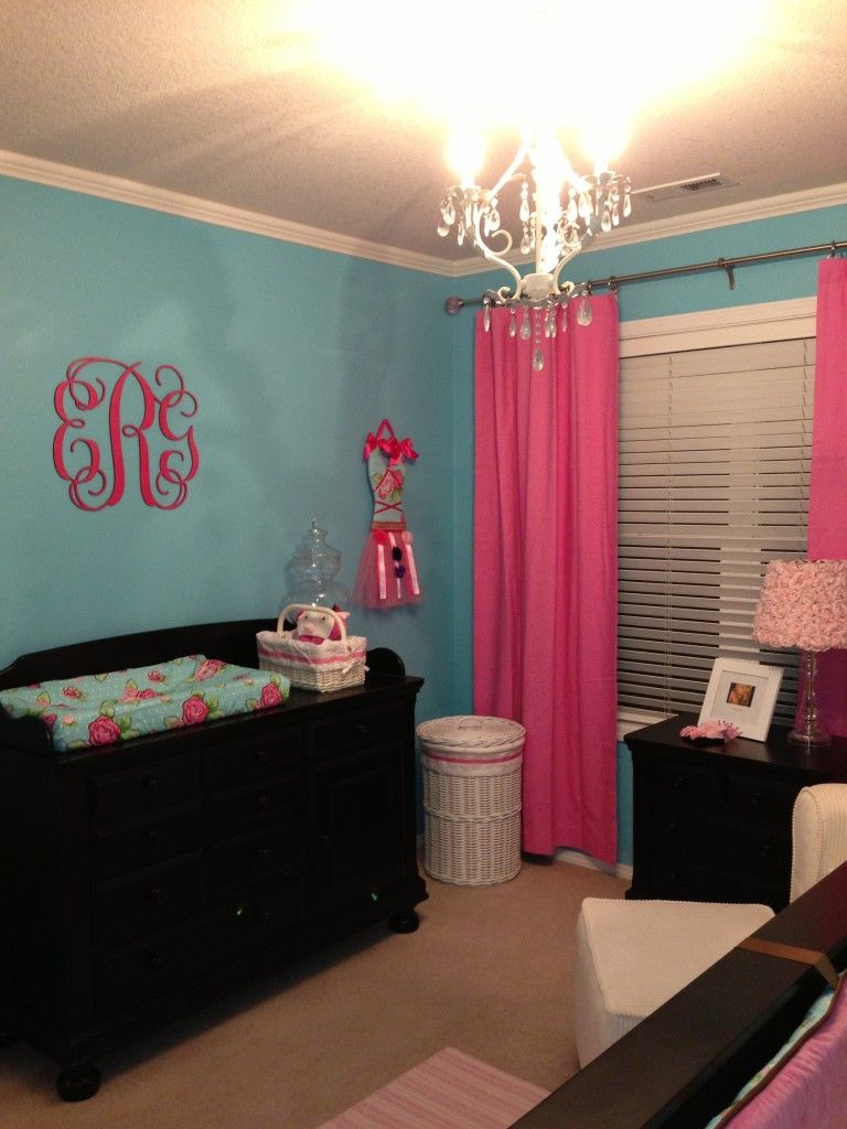 Emerson S Pink And Turquoise Nursery Oh Baby Turquoise