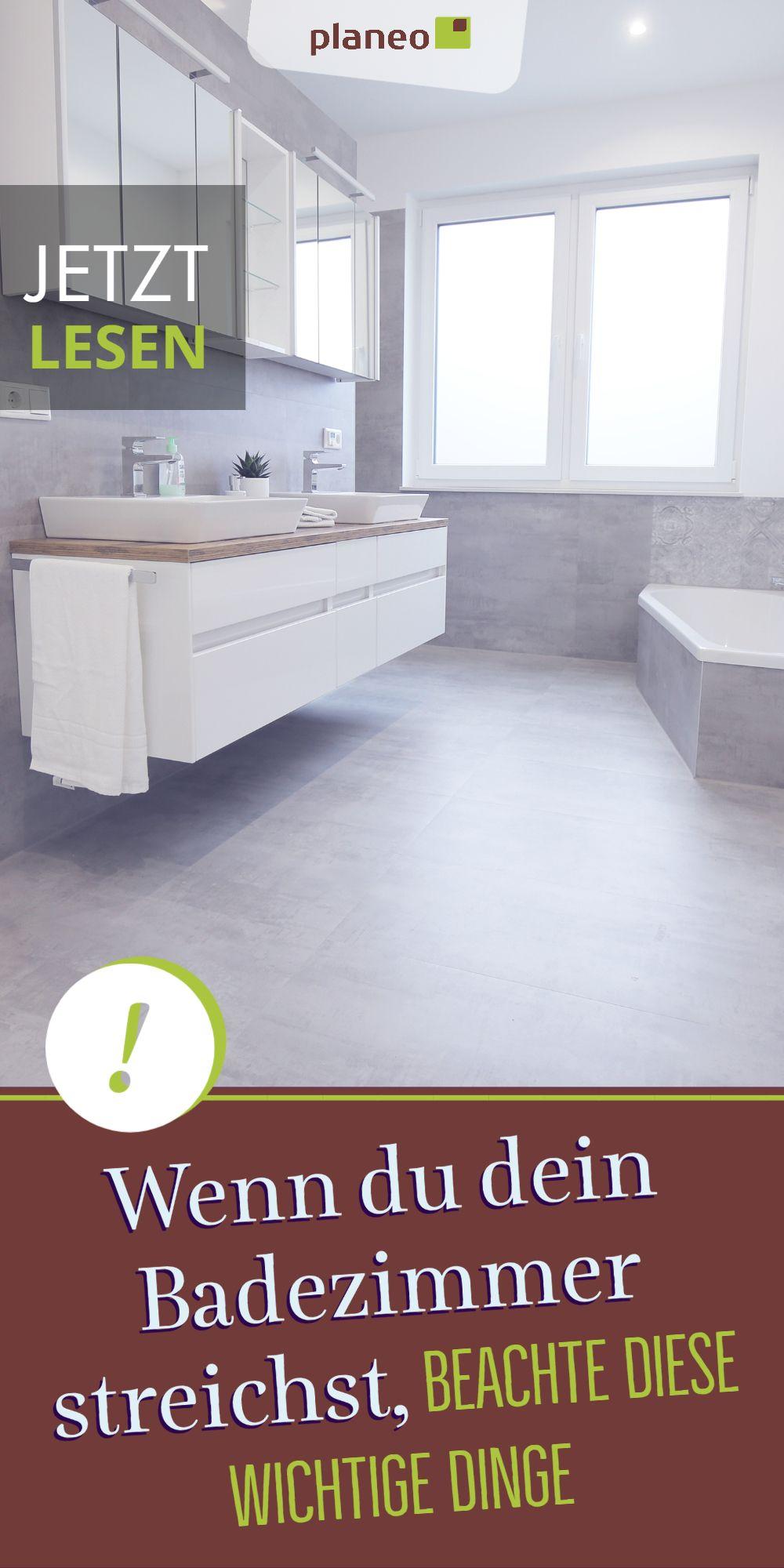 Badezimmer streichen – Welche Farbe soll man nehmen ...