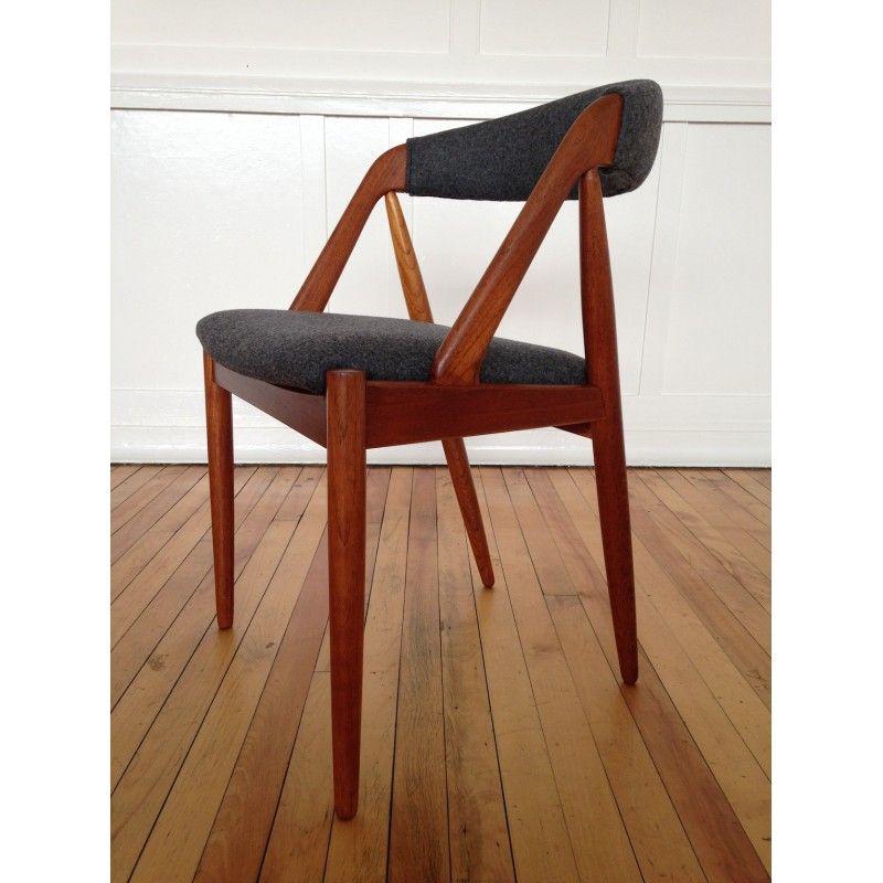 Teakhouten Eettafel Met 6 Teakhouten Stoelen.Danish Teak Set Of 6 Dining Chairs By Kai Kristiansen