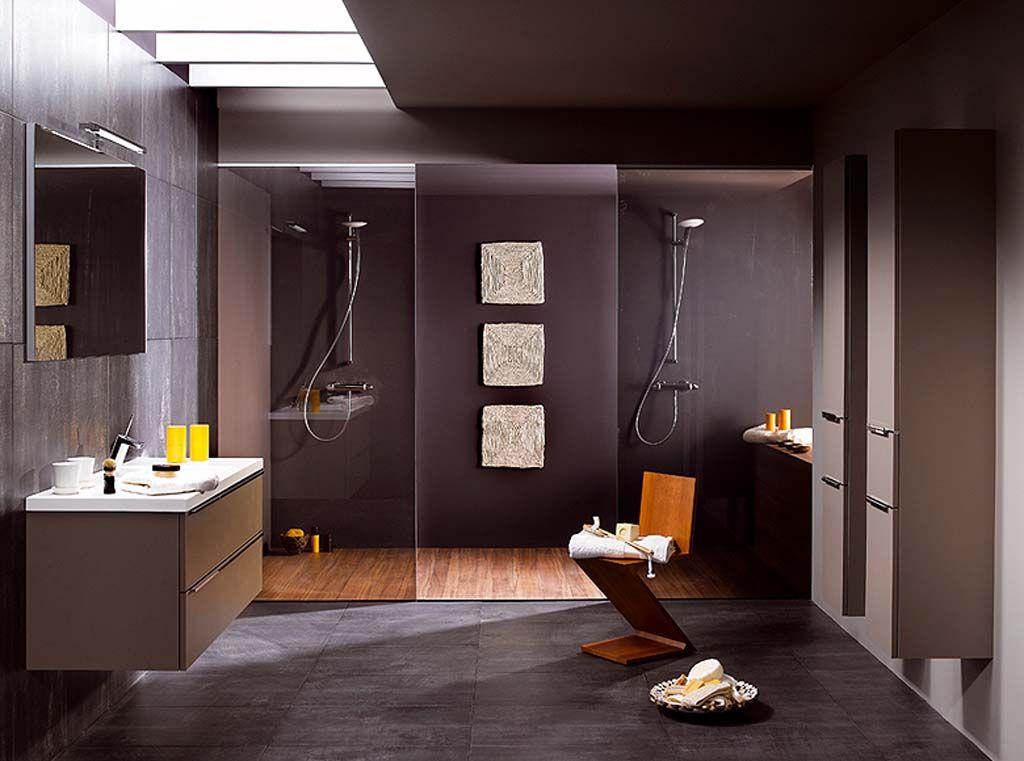Exclusive Bathroom Interior Decoration Ideas Comfortable Wall Painting Modern Wash Basin Wooden