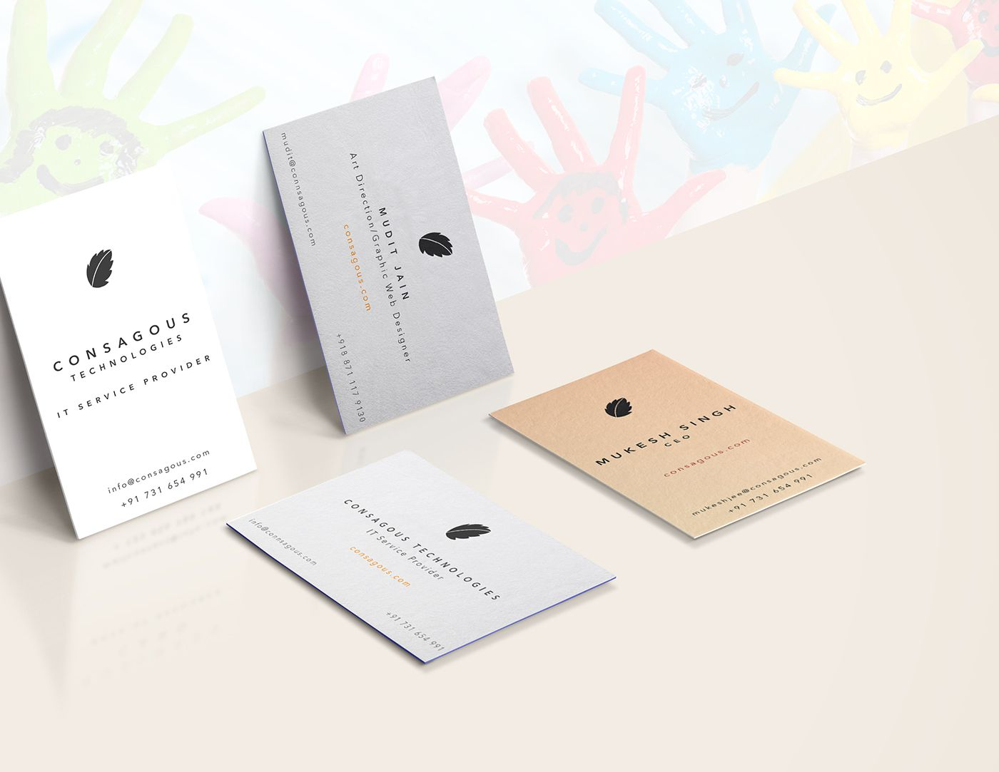 Pin by consagous technology on Consagous Business Card Design ...