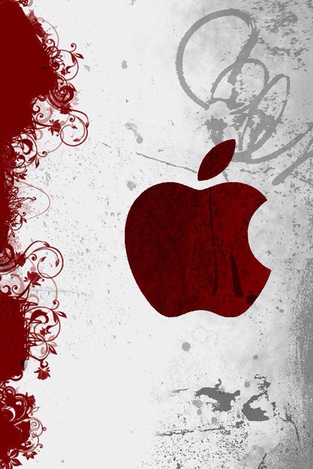 Red Apple Logo Apple Logo Wallpaper Iphone Apple Wallpaper