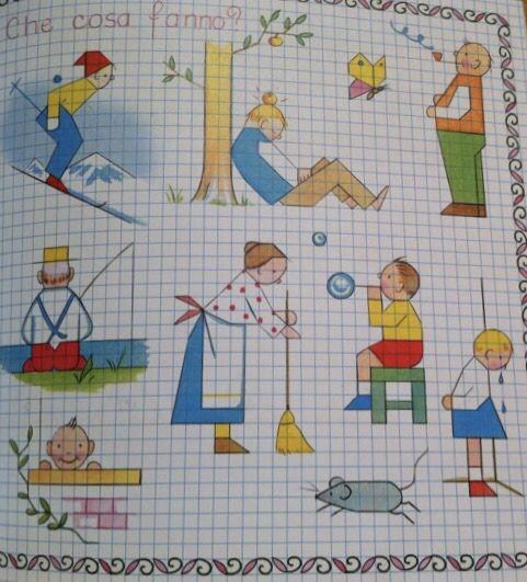 Illustration Con Imagenes Dibujos En Cuadricula Cuadricula