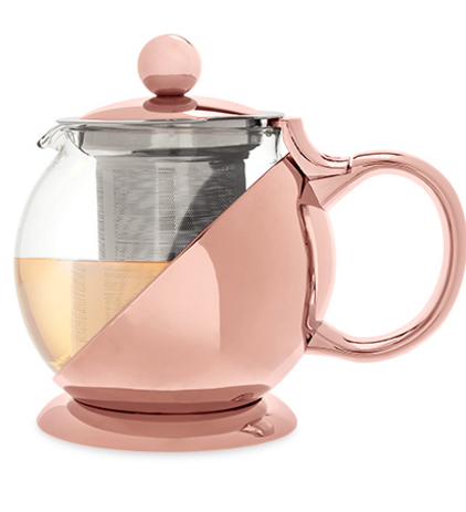 Shelby Rose Gold Wrapped Teapot Infuser By Pinky Up Kitchen In