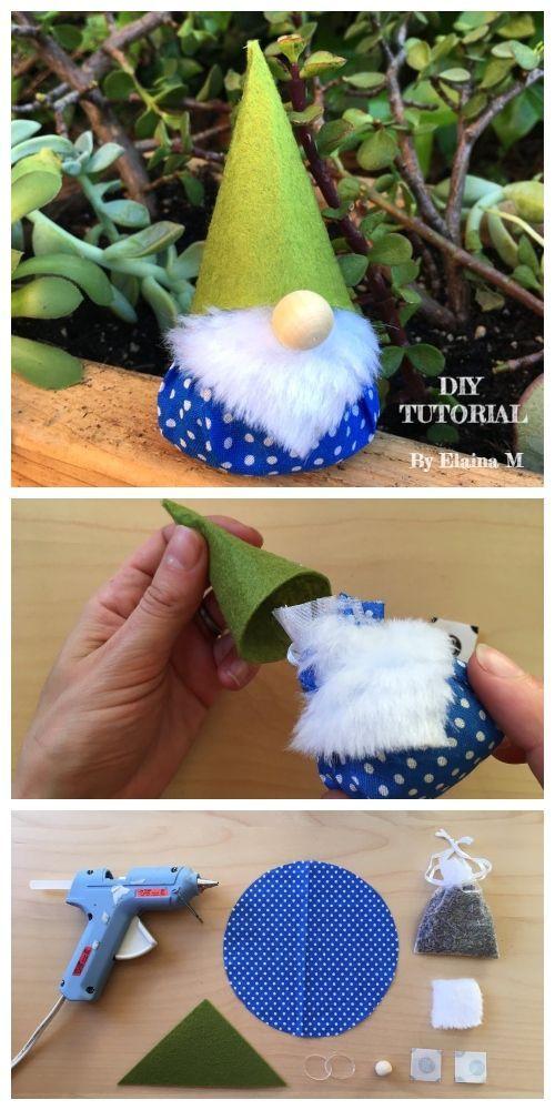 Padrão e tutorial de costura perfumada de gnomo de Natal DIY  #costura #gnomo #natal #perfuma... #diytutorial
