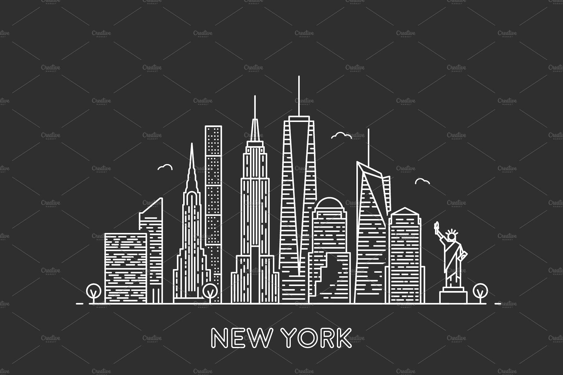 New York Skyline New York Skyline Skyline Logo New York Logo