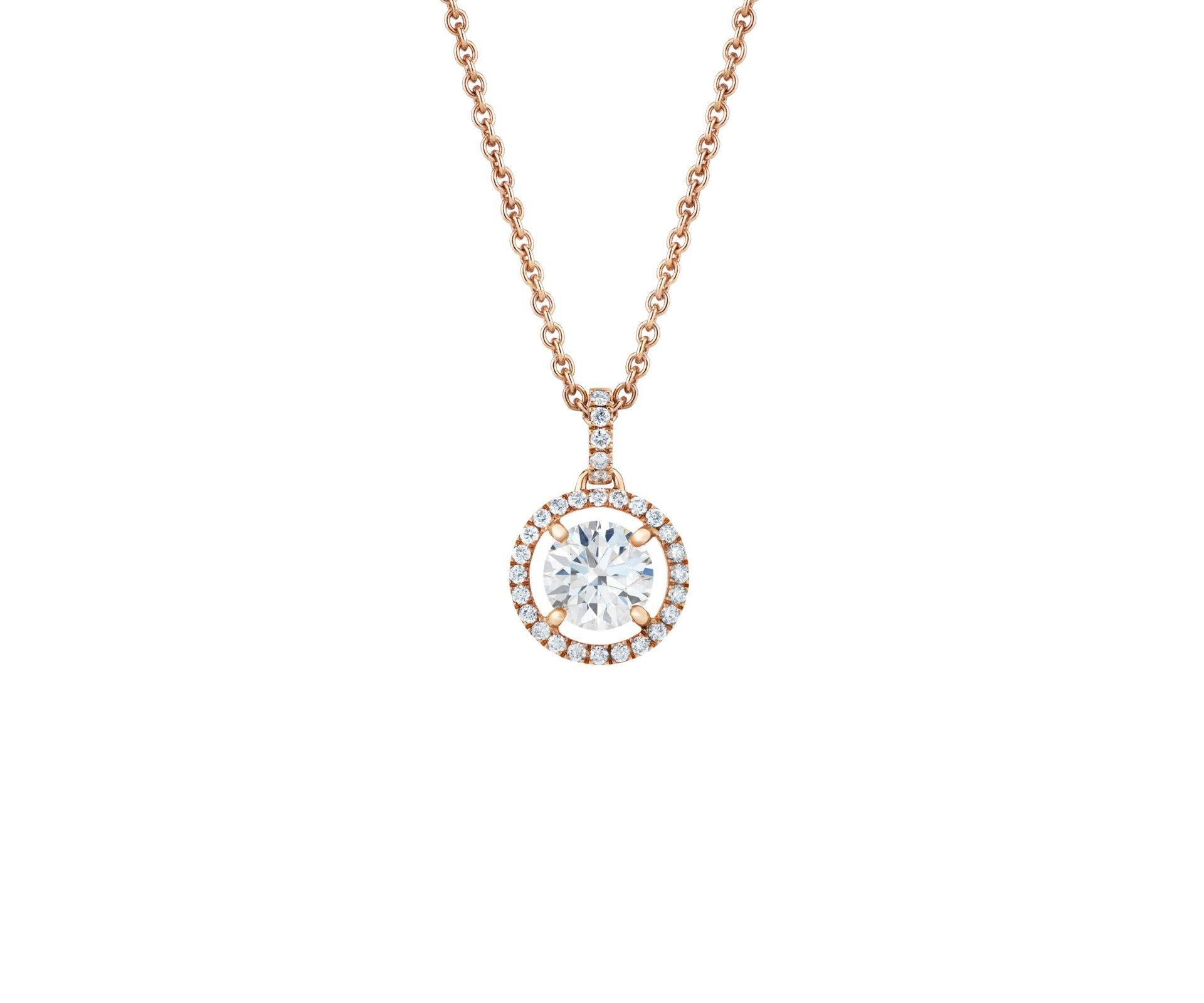 Aura pink gold pendant this timelessly feminine pink gold aura