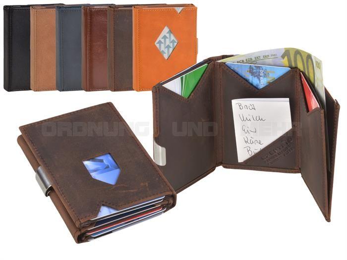 EXENTRI - Geldbörse Kartenbörse Minibörse Kartenetui Portemonnaie - 6 Farben