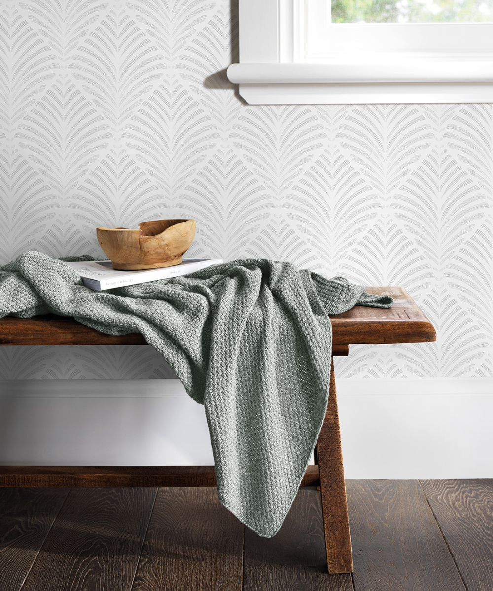 Earston Art Deco Inspired Wallpaper • Subtle & Fresh