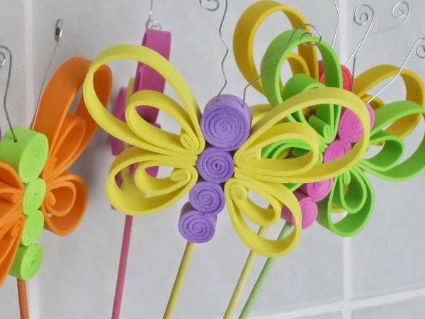 Mariposas de goma eva. Fun foam butterflies.   ideas para cumpleaños ...