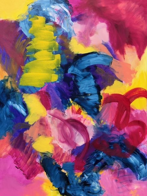 Abundance Chloe Meyer 30 X40 Abstract Paintings By