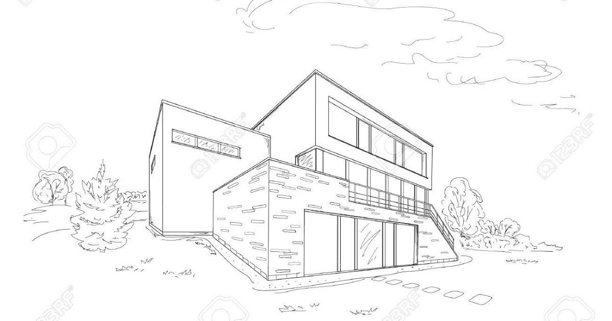 Ideas For Modern House Design Drawing Easy In 2020 With Images