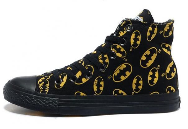 Converse Batman Black And Yellow Symbol Printed High Tops Canvas Outlet Online