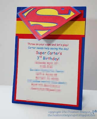 Superman Invitation Creative Stamper Pinterest Superman